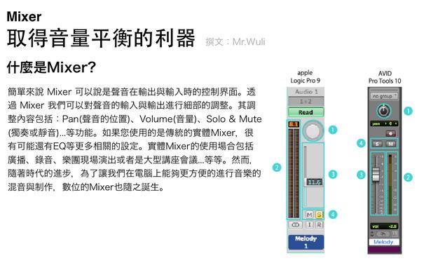 取得音量平衡的利器:Mixer
