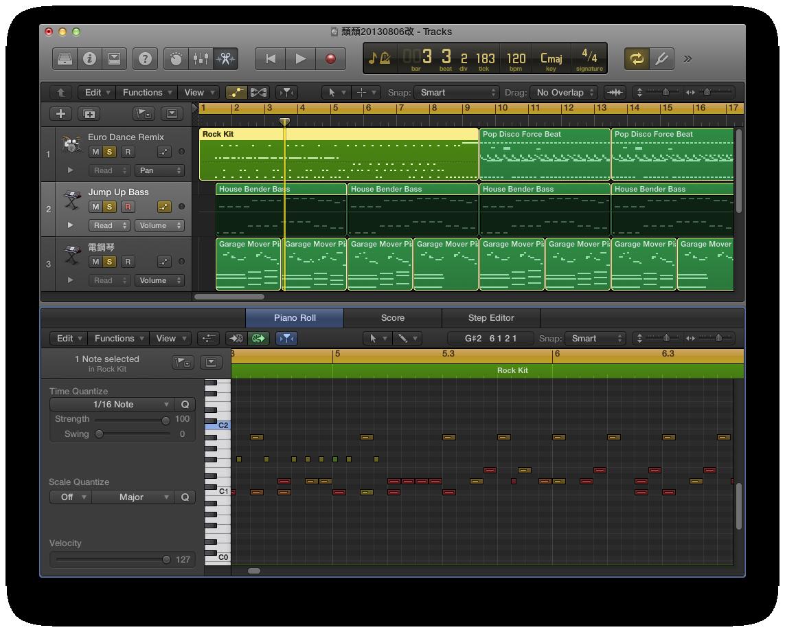 DTM:Logic Pro X 基礎教學-MIDI 音符的編輯與應用