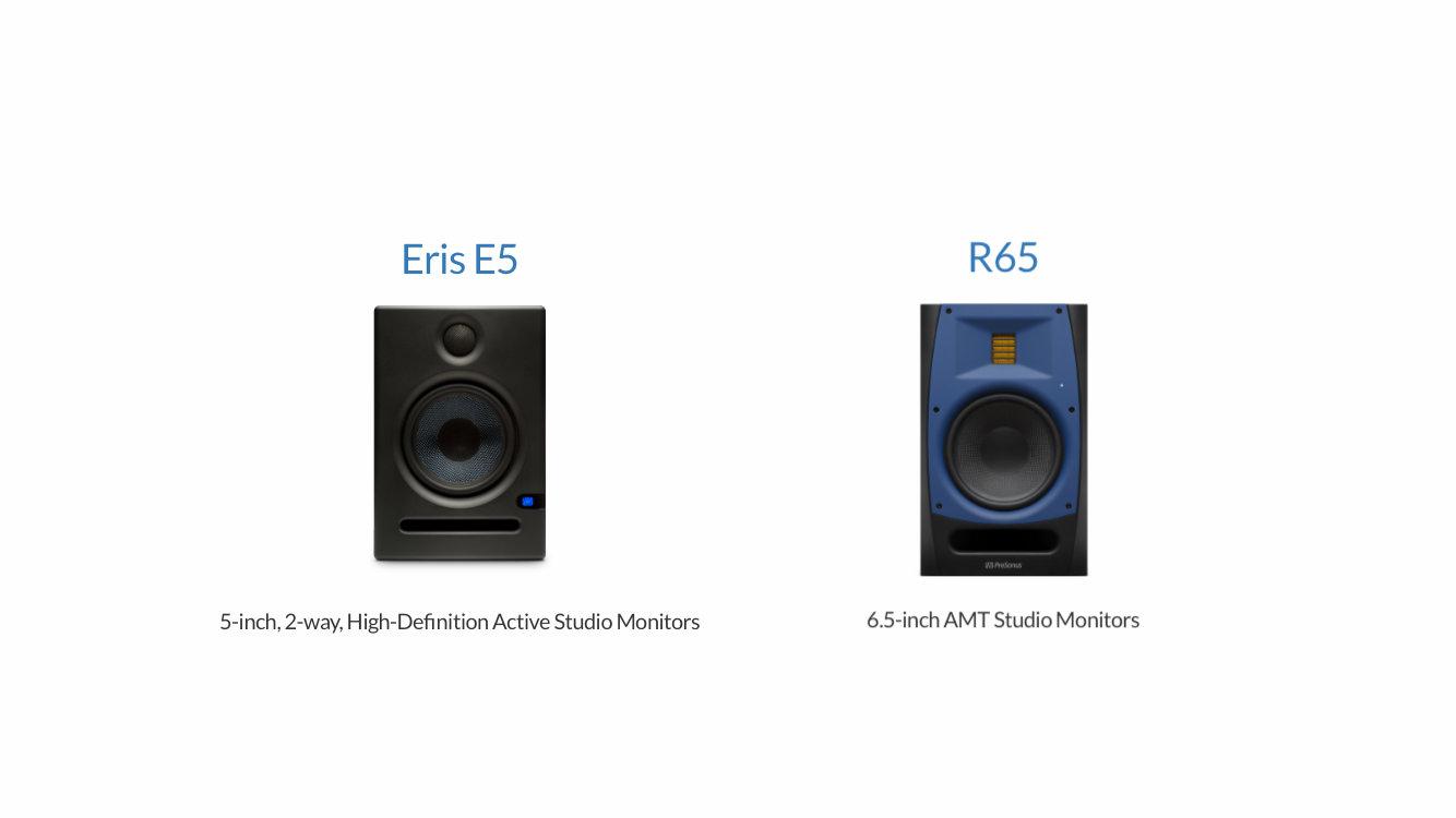 在早期成立 LiSWEi 工作室的時候,我在教室使用的是 PreSonus Eris E5 的監聽喇叭;而在家中我原先使用的是 YAMAHA 的 MSP5 ,後來則改用 PreSonus R65 取代原本已經用了一陣字的 MSP5。