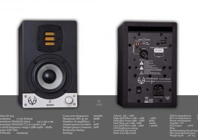 EVE AUDIO SC204 /主動式監聽喇叭