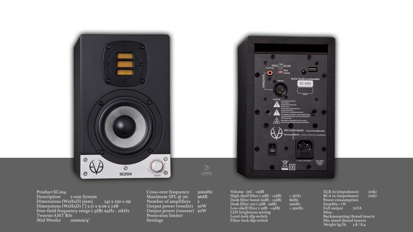 EVE AUDIO / SC205 主動式監聽喇叭