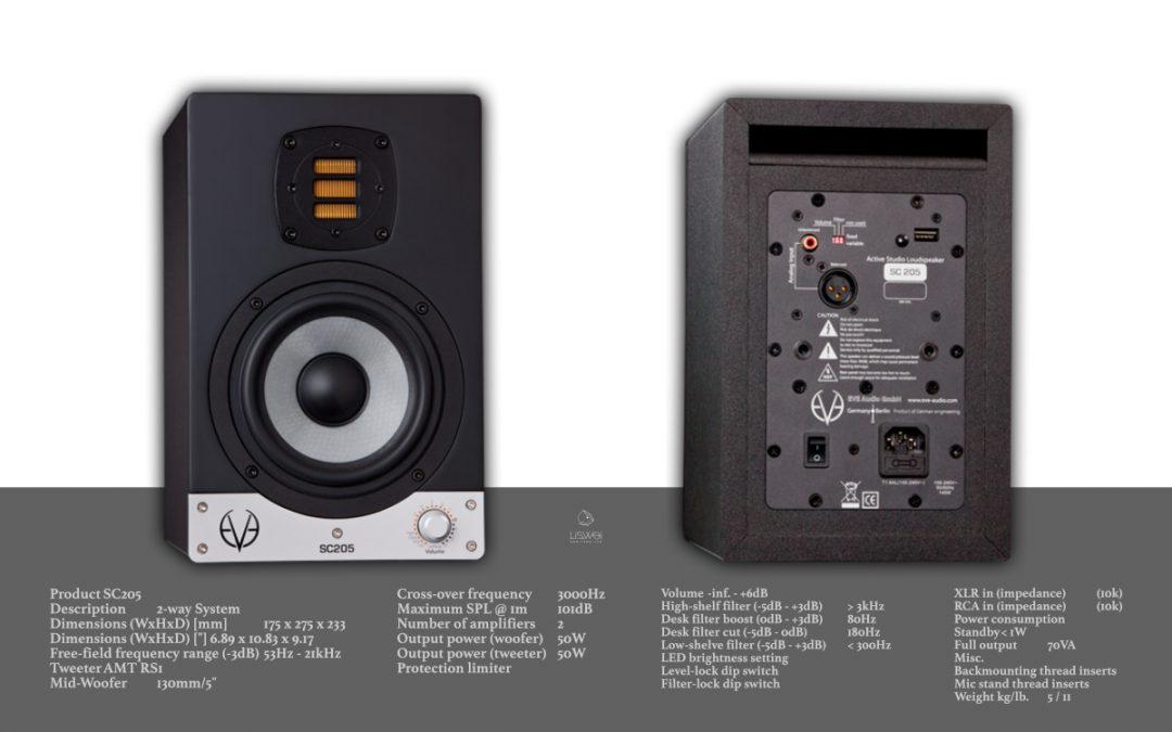 EVE AUDIO SC205 / 主動式監聽喇叭